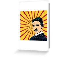 Tea Time with Tesla Greeting Card