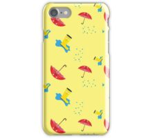 Rubber boots and Umbrella in the rain iPhone Case/Skin