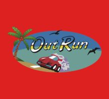 OUT RUN SEGA ARCADE 80s Kids Tee