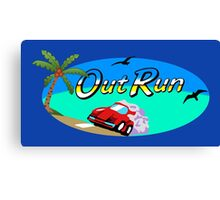 OUT RUN SEGA ARCADE 80s Canvas Print