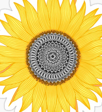 Mandala Sunflower Sticker