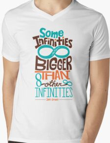 Some Infinities are Bigger Than Other Infinities Mens V-Neck T-Shirt
