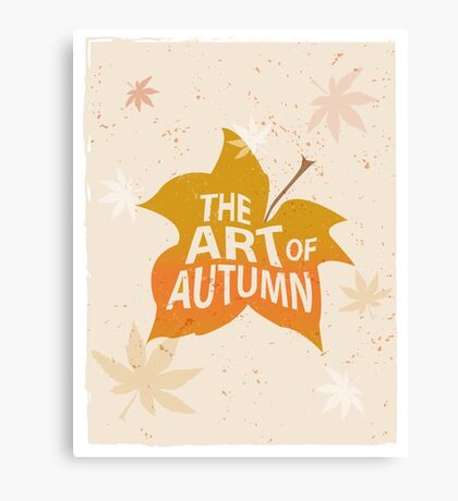 Autumn lettering composition for card or poster. Canvas Print