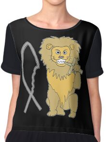 feed them to the lions Women's Chiffon Top
