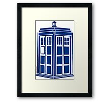 Colour Me Tardis Framed Print
