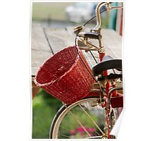 bicycle whit baskets Poster