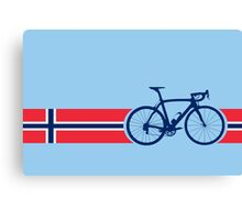 Bike Stripes Norway Canvas Print