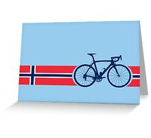Bike Stripes Norway Greeting Card