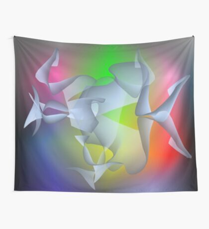 brainwave, colorful fantasy picture Wall Tapestry
