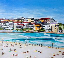 Bondi Beach North Corner by gillsart