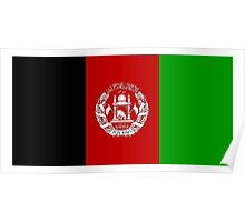 Flag of Afghanistan, AFGANISTAN, Pure & Simple Poster