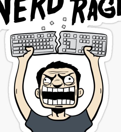 Nerd Rage Sticker