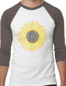 Golden Mandala Sunflower Men's Baseball ¾ T-Shirt