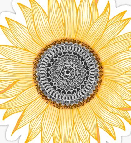 Golden Mandala Sunflower Sticker