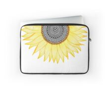 Golden Mandala Sunflower Laptop Sleeve