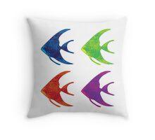 Pop Art Fish Throw Pillow