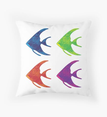 Pop Art Fish Throw Pillow