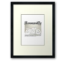 Triumph Bonneville, Zen and the Art of Motorcycle Maintenance Framed Print