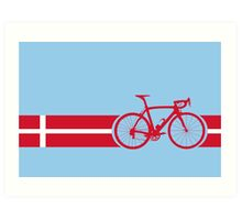 Bike Stripes Danish National Road Race Art Print