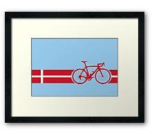 Bike Stripes Danish National Road Race Framed Print