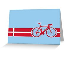 Bike Stripes Danish National Road Race Greeting Card