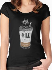Iced Latte Coffee Women's Fitted Scoop T-Shirt