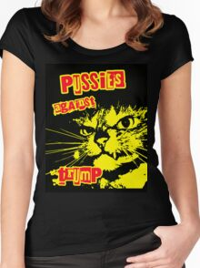Meow Pussies against Trump Women's Fitted Scoop T-Shirt