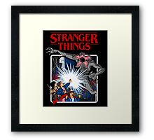 Stranger Things Animated Series Framed Print