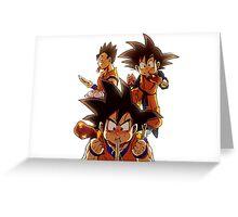 Goku - Goten - Gohan - Dragon Ball Greeting Card