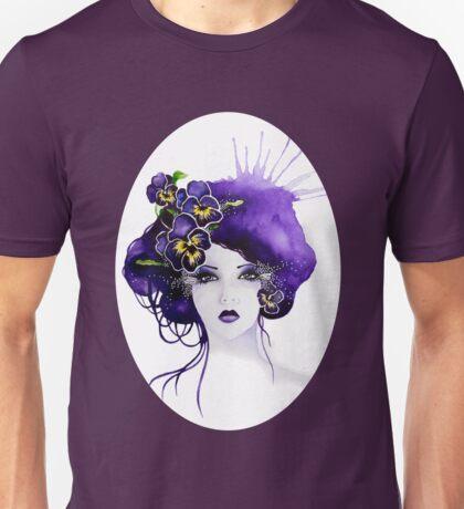 Purple Pansy Faerie Unisex T-Shirt