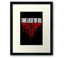 last of us - blood Framed Print