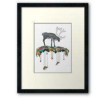 Reindeer colors Framed Print