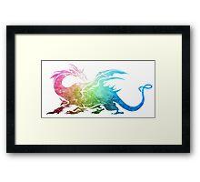 °FINAL FANTASY° Final Fantasy V Rainbow Logo Framed Print