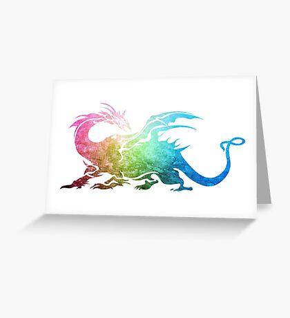 °FINAL FANTASY° Final Fantasy V Rainbow Logo Greeting Card