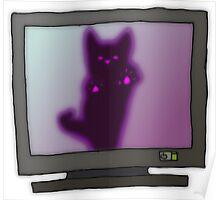 Creepy Kitty Poster