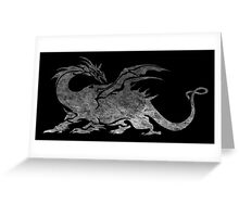 °FINAL FANTASY° Final Fantasy V B&W Logo Greeting Card