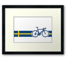 Bike Stripes Swedish National Road Race Framed Print
