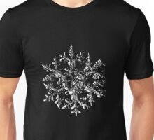 Snowflake vector - Gardener's dream black version Unisex T-Shirt