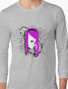 Emo Girl Graphic Long Sleeve T-Shirt
