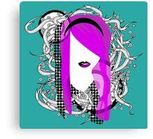 Emo Girl Graphic Canvas Print