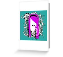 Emo Girl Graphic Greeting Card