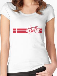 Bike Stripes Danish National Road Race Women's Fitted Scoop T-Shirt
