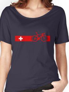 Bike Stripes Switzerland Women's Relaxed Fit T-Shirt