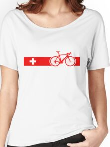 Bike Stripes Switzerland Women's Relaxed Fit T-Shirt