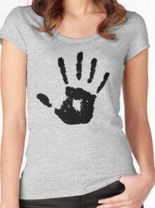 The Elder Scrolls - Dark Brotherhood Symbol (Black) Women's Fitted Scoop T-Shirt