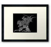 °FINAL FANTASY° Final Fantasy VI B&W Logo Framed Print