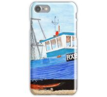 Hastings Fishing Boat in Mixed Media  iPhone Case/Skin