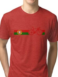 Bike Stripes Portugal  Tri-blend T-Shirt