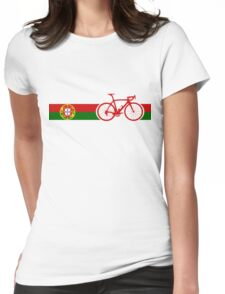 Bike Stripes Portugal  Womens Fitted T-Shirt