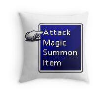 Final Fantasy Menu Throw Pillow